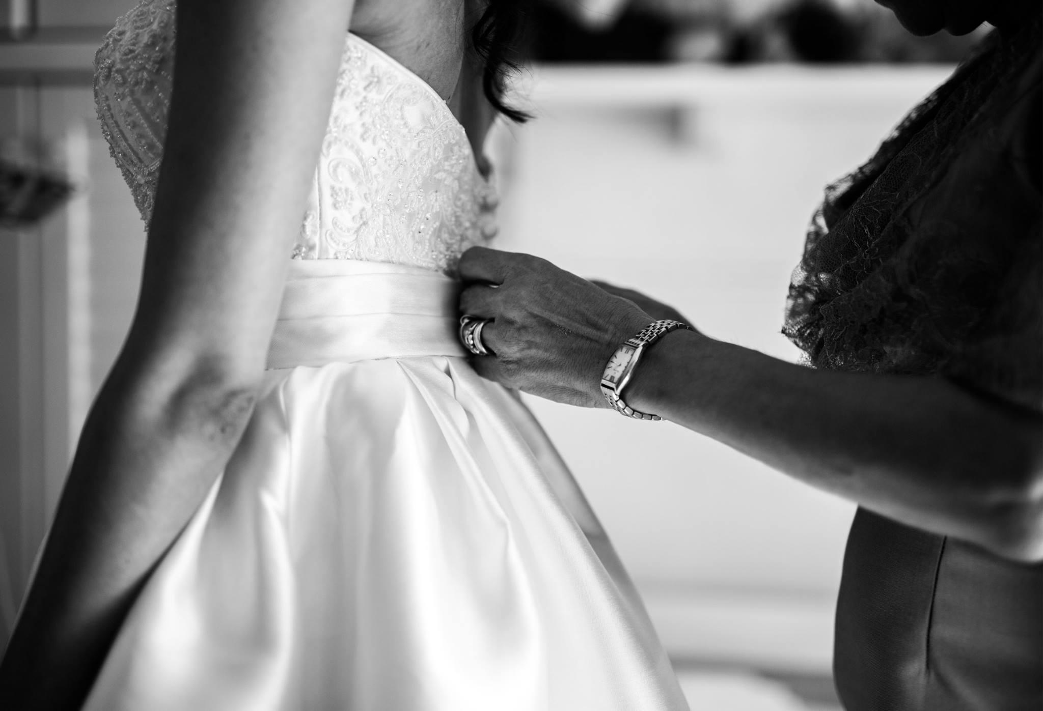 foto del vestito di matrimonio