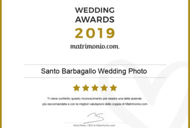 Siamo i vincitori del Wedding Awards 2019 di matrimonio.com
